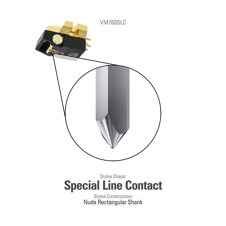 Audio Technica VM 760 SLC Cápsula estéreo de doble imán móvil con ...