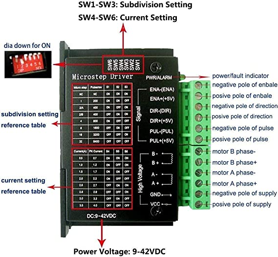TopDirect TB6600 4A 9-42V Stepper Motor Driver Controller tb6600 32 Segments 24