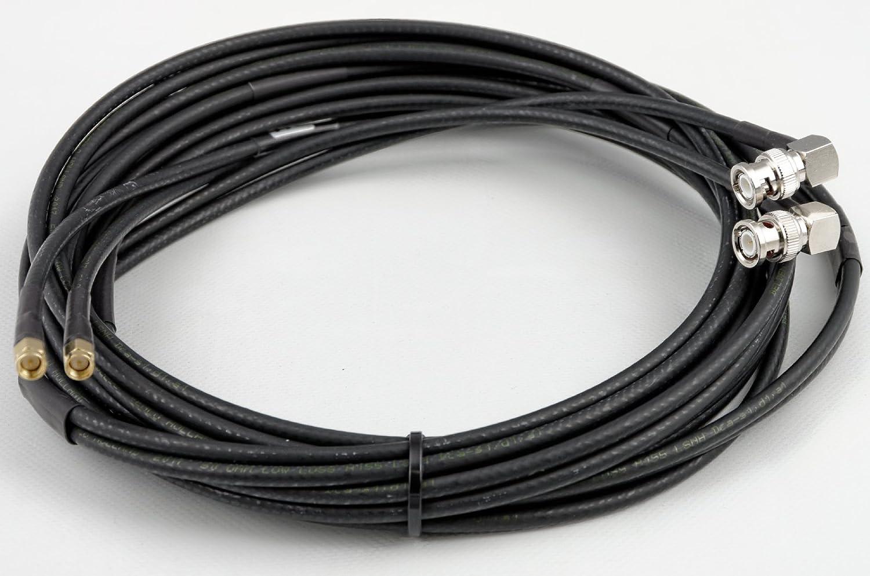 TWIN Cable Coaxial Para LTE/WiFi - Belden H155 de lsnh - Conector BNC ángulo - -> SMA conector - libre de halógenos - retardante de llama 5 m: Amazon.es: ...