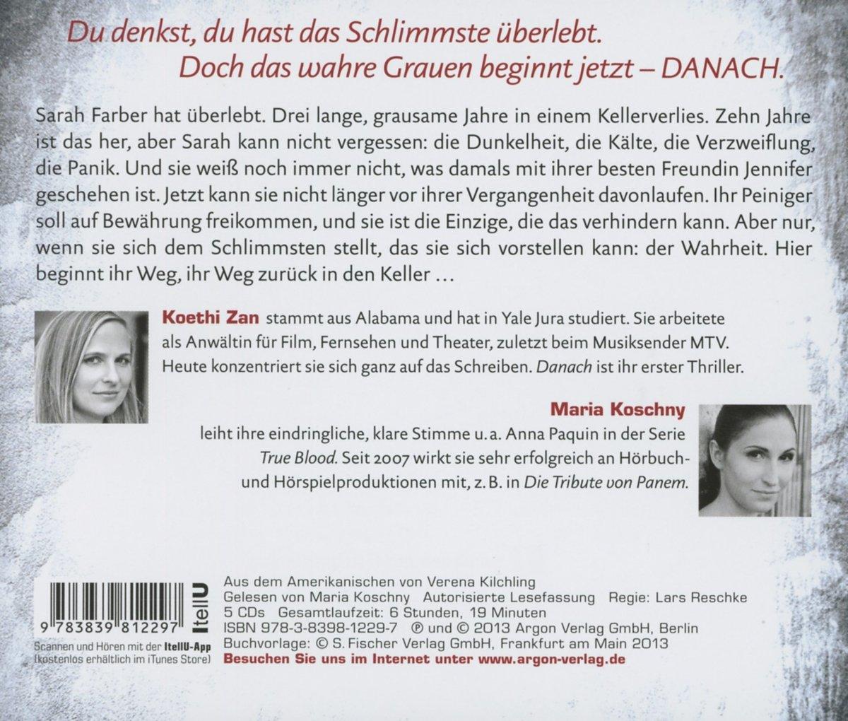 Danach: Amazon.de: Koethi Zan, Maria Koschny, Verena Kilchling: Bücher