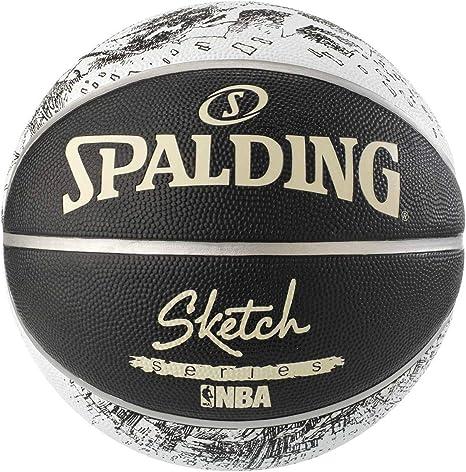 Spalding NBA Sketch Swoosh - Balón de Baloncesto 7: Amazon.es ...