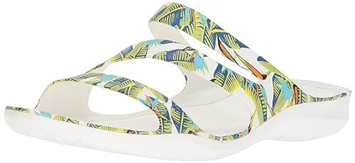 265e391d5998 crocs Women s Swiftwater Graphic W Flat Sandal