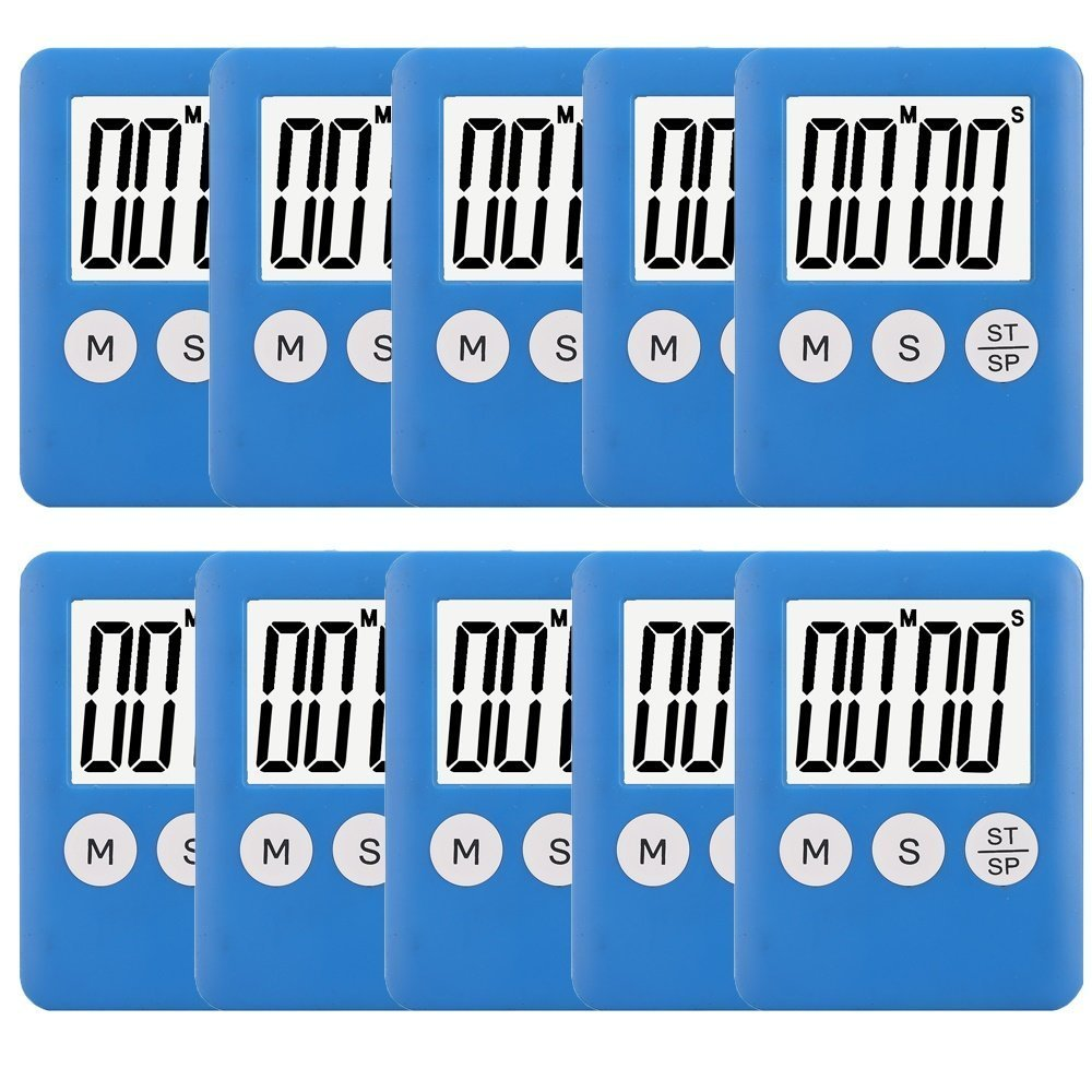 10 Pack Small Digital Kitchen Timer Magnetic Countdown Up Minute Second Timer SNYZY SN-CB-10