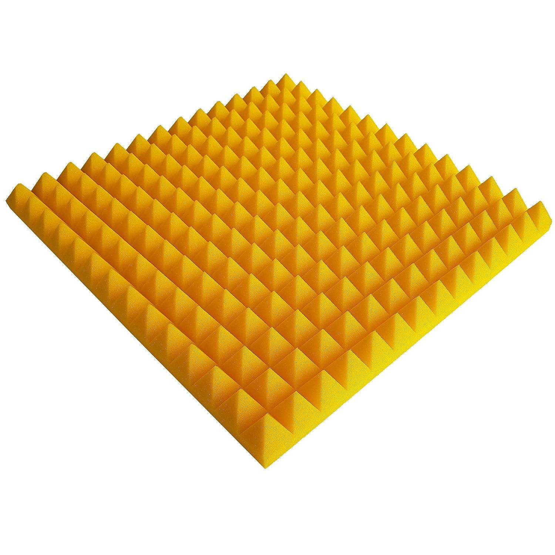 1 x Akustikschaumstoff ca Gelb Schaumstoff 49x49x5cm Noppenschaum