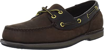 Rockport Perth Boat Shoes Padded Leather Classic Casual Smart Loafers Mens