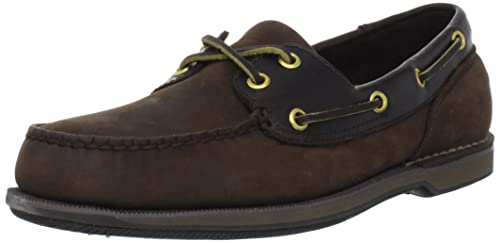 Rockport Ports of Call Perth K55031 - Zapatos de cuero para hombre, Marrón (Choc/Bark), EU 42,5