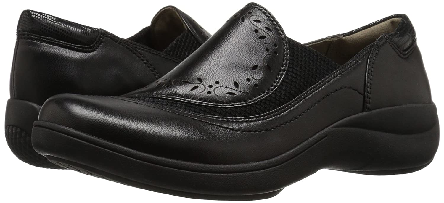 Aravon Women's REVsolace Flat B01AOVOQ40 8.5 B(M) US|Black Smooth