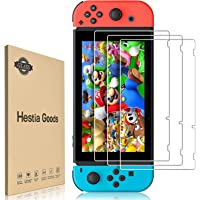 [3 Pack]Hestia Goods Tempered Glass Screen Protector for Nintendo Switch - Transparent HD Clear Anti-Scratch Screen…