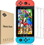 [3 Pack]Hestia Goods Tempered Glass Screen Protector for Nintendo Switch -