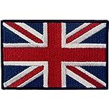 イギリス ユニオン・ジャック 紋章 イングランド 国旗 UK 英国 アップリケ 刺繍入りアイロン貼り付け/縫い付けワッペン