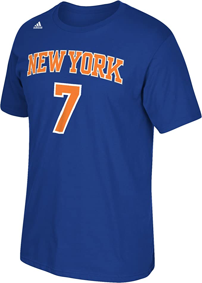 adidas Carmelo Anthony New York Knicks NBA Player T-Shirt Camisa - Blue