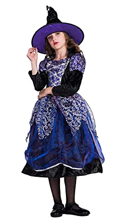 eb048bded163a Fantastcostumes ハロウィン 魔女 仮装 コスチューム 女の子 コスプレ なりきり 服装 パープル 帽子付き