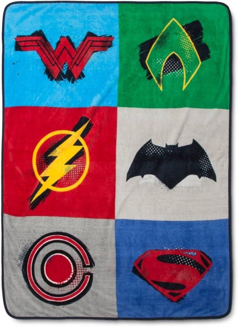 DC Comics Justice League Plush Super Soft Throw Blankets (46