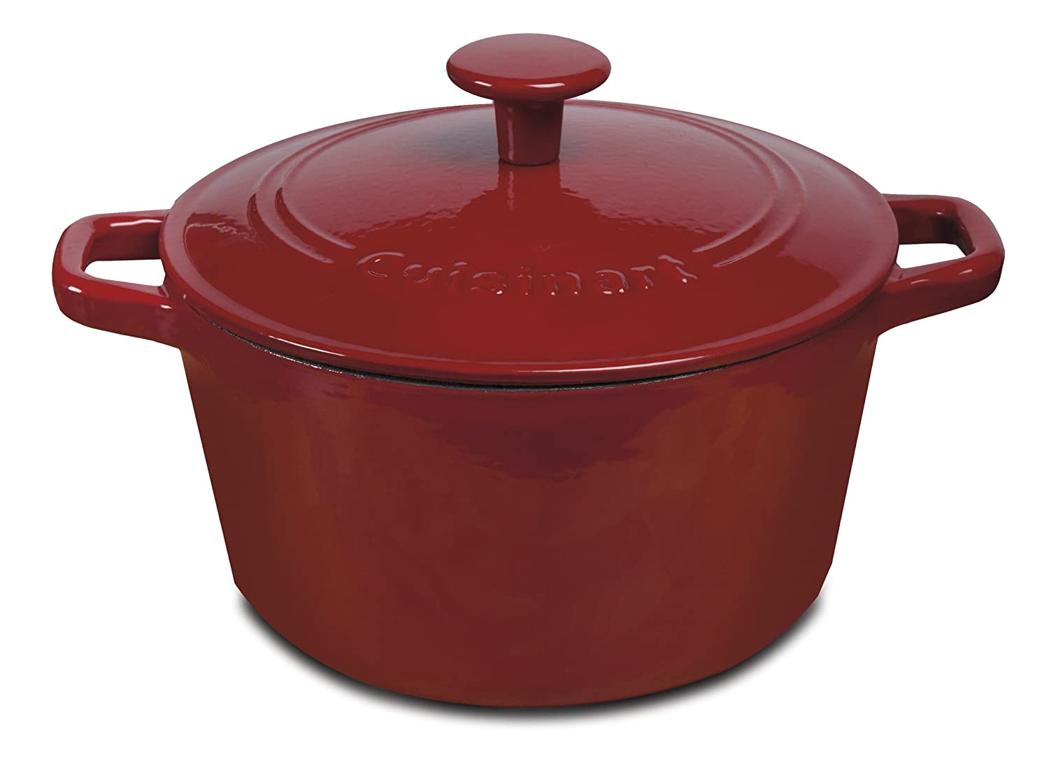 Cuisinart CI630-20CRC 3-Quart Round Covered Casserole, Red