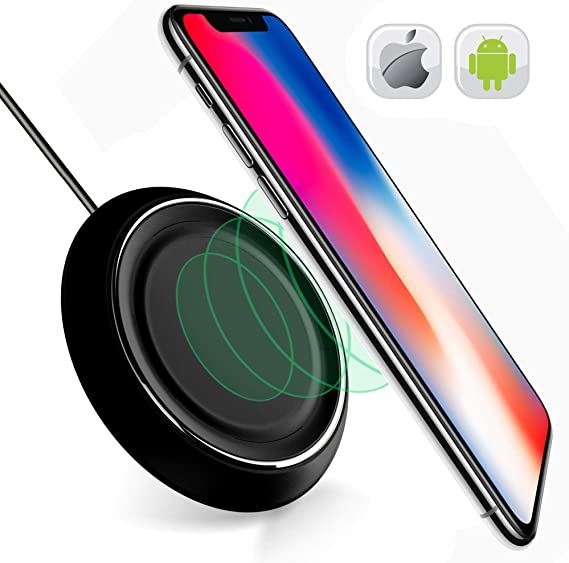 For iPhone 8//X Galaxy Qi Wireless Fast Charger Charging Stand Pad 01