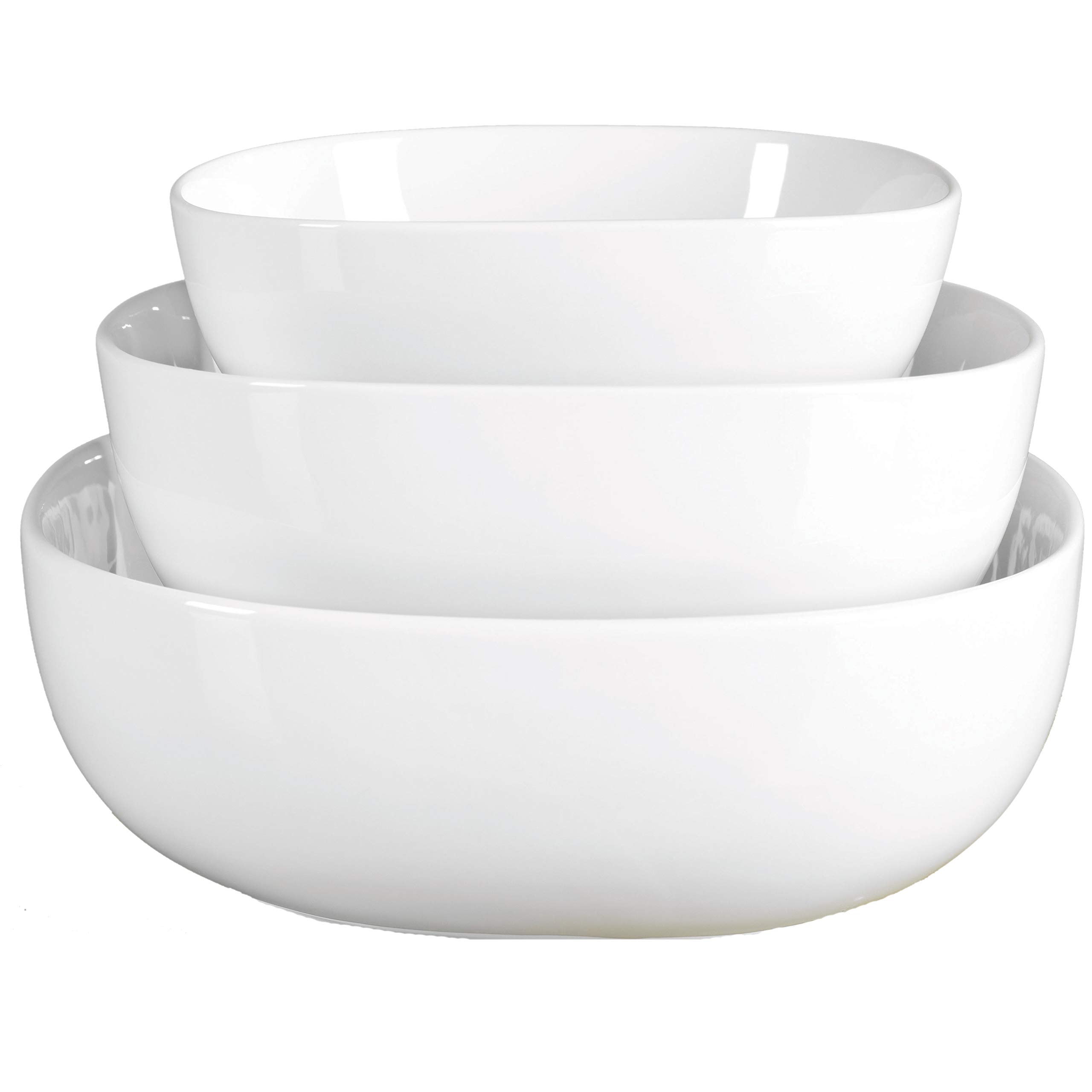Denmark White Porcelain Chip Resistant Scratch Resistant Commercial Grade Serveware, 3 Piece Serving Bowl Set by Denmark Tools For Cooks