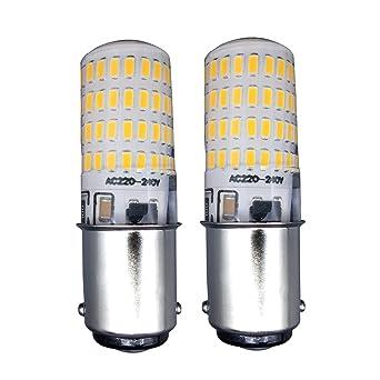 MZMing [2 Piezas] B15 Ahorro de Energía LED 4W Bombillas-Regulable 3000k luz