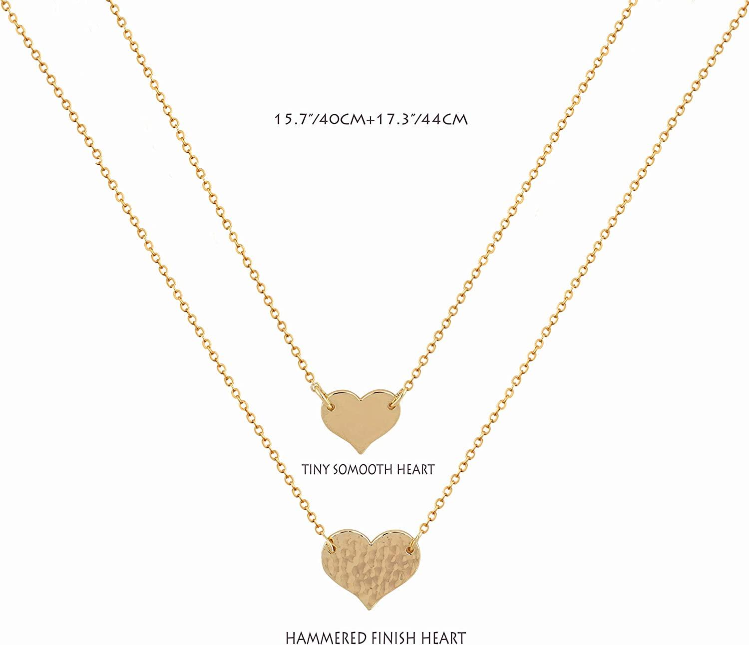 """32/"""" long brown cord lariat necklace /& matt gold layered heart /& leaf pendant"""