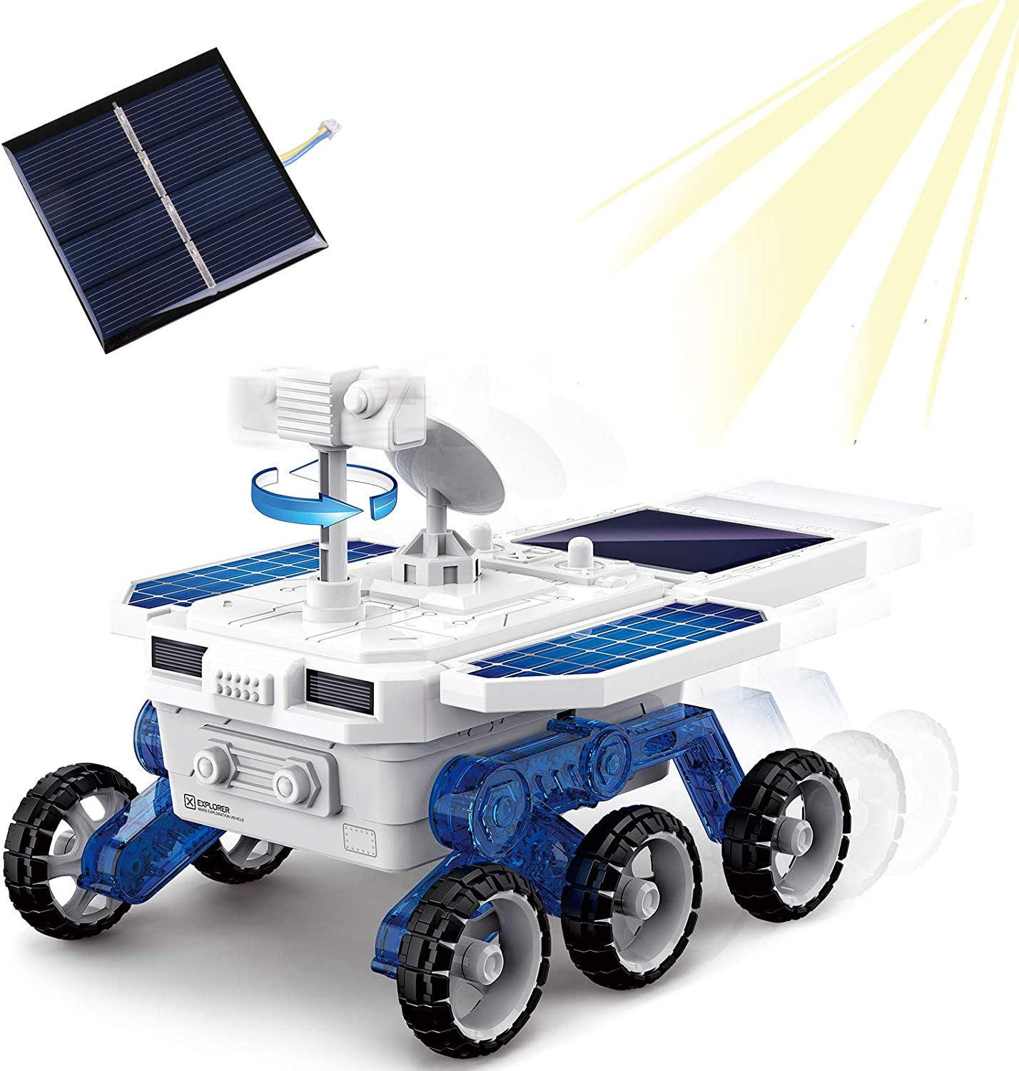 rolimate DIY Car Toys, STEM Toys Solar Mars Exploration Car Toy kit, DIY Eco-Engineering Science Assembly Vehicle Truck Toy, Best Birthday Gifts for 6 7 8 9 +Year Old Boys Girls Student
