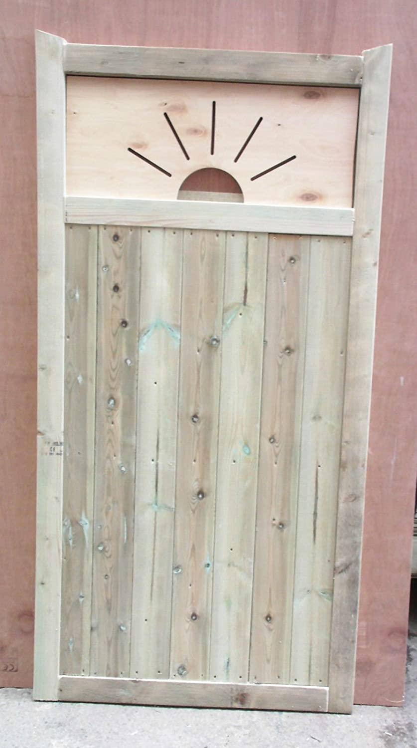 x 180cm W D Smileswoodcraft Wooden Garden Gate Made With Your House Number cut out H x 5cm 91cm