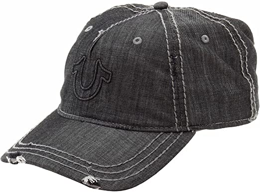Men/'s Distressed White Baseball Cap