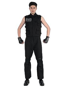 Generique - Disfraz Agente de policía SWAT Hombre XL: Amazon ...