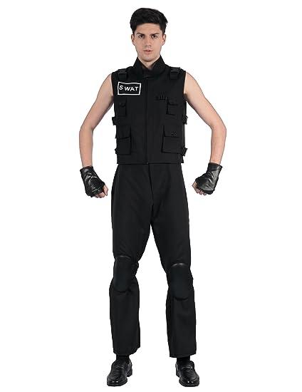 Generique - Disfraz Agente de policía SWAT Hombre L: Amazon.es ...