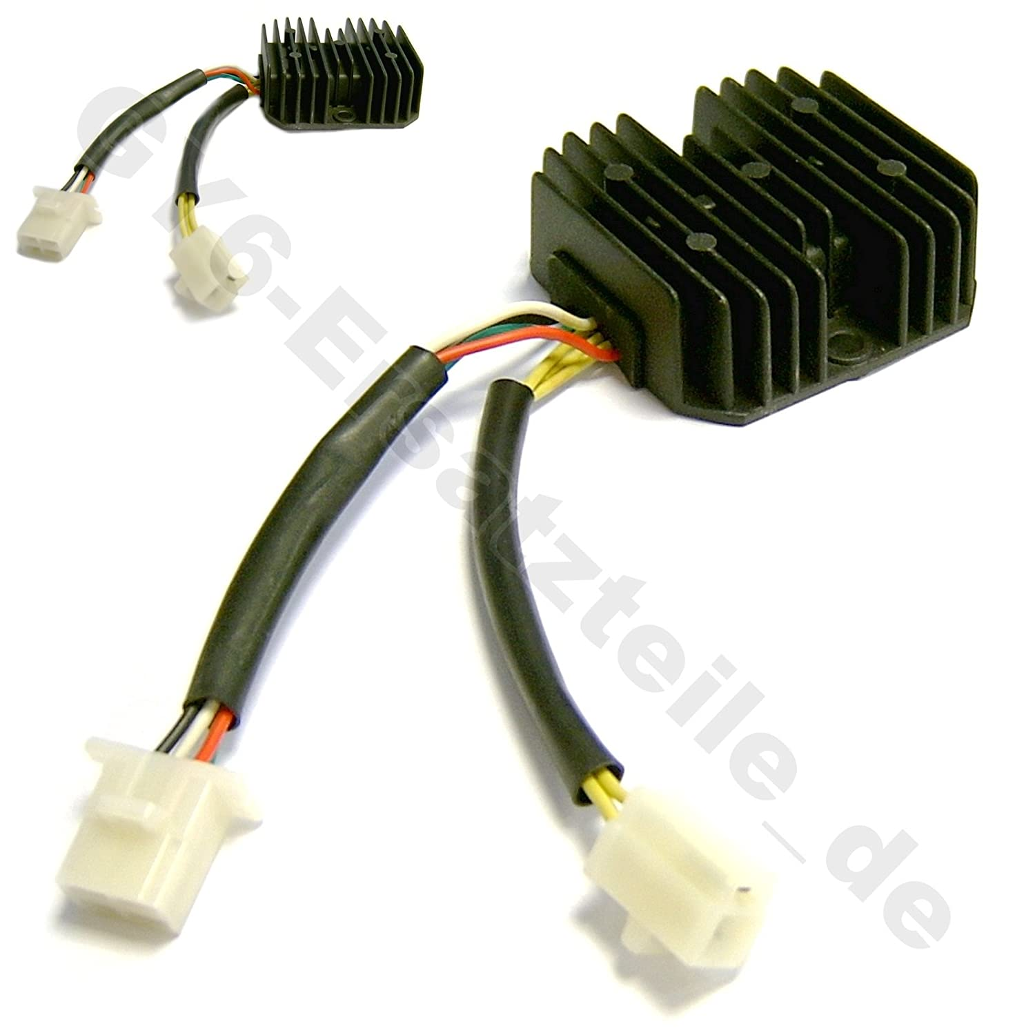 BMS ..... OEM VOLTAGE REGULATOR// RECTIFIER 12V 3+4 PINS IN 2 PLUGS FOR 11 POLE STARTOR 125-200CC CHINESE SCOOTER GY6 4STROKE MOPED ATV TAOTAO ROKETA PEACE JONWAY ZNEN BMS BAJA ROKETA VENTO SUNL VIP