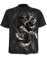 SPIRAL - T-Shirt Mec Spiral DARK WEAR - Death Claws - Noir