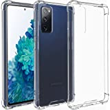 Restoo Samsung Galaxy S20 FE Case,Clear Case with 4 [Shock-Absorption] Corners Hard PC Back Soft TPU Bumper for Samsung Galax
