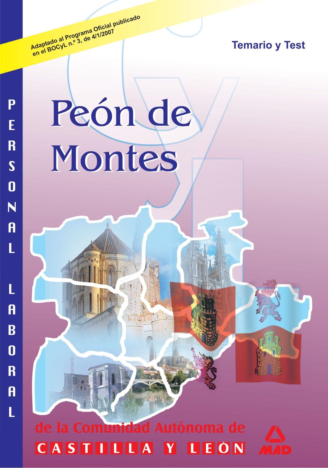 Peon De Montes. Junta De Castilla Y Leon. Temario Y Test (Spanish Edition) pdf