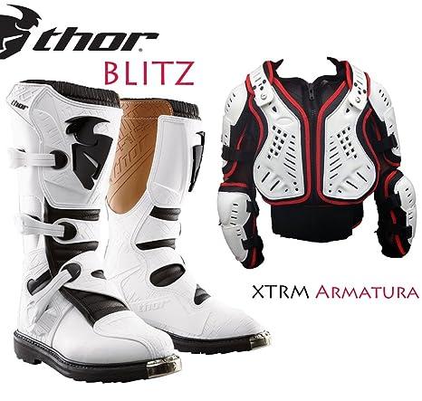 Thor Blitz Stivali Motocross off Road Stivali Moto Sportivi