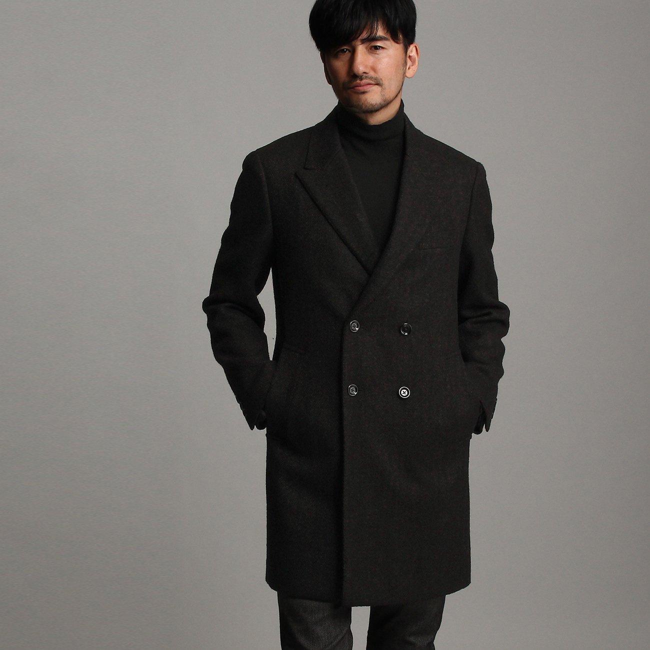 (タケオキクチ) TAKEO KIKUCHI 矢絣柄コート【Product Notes Japan】 07093063 B075WNM5NX 04(LL)|ブラウン(043) ブラウン(043) 04(LL)