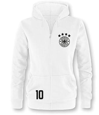 brand new 46be3 96878 Luckja Deutschland EM 2016 Damen Zip-Jacke: Amazon.de ...