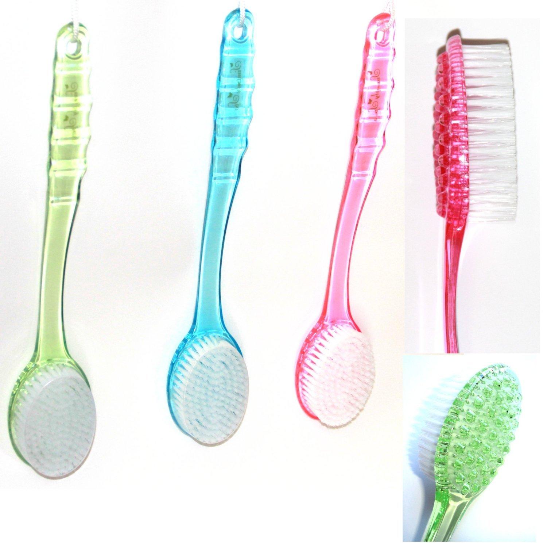 1 Back Scrubber Scrub BRUSH Long Handle Bath Shower 1 RANDOM COLOR FreshGadgetz