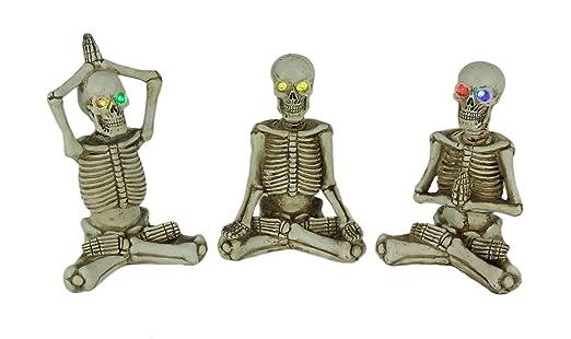 Things2Die4 - Juego de 3 Figuras de Esqueleto de Yoga con ...