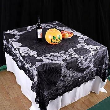 Surfmall Halloween Deko Tisch Spinnennetz Tischdecke Halloween