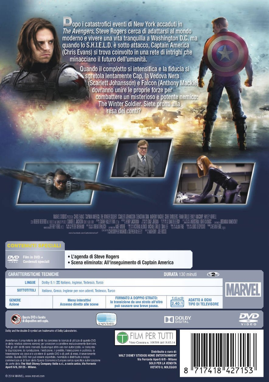 Captain America - The Winter Soldier [Italia] [DVD]
