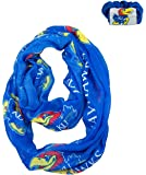 Official National Collegiate Athletic Association Fan Shop Authentic NCAA Infinity Scarf and Hair Twist - Scrunchie Set. Show School Pride Everywhere