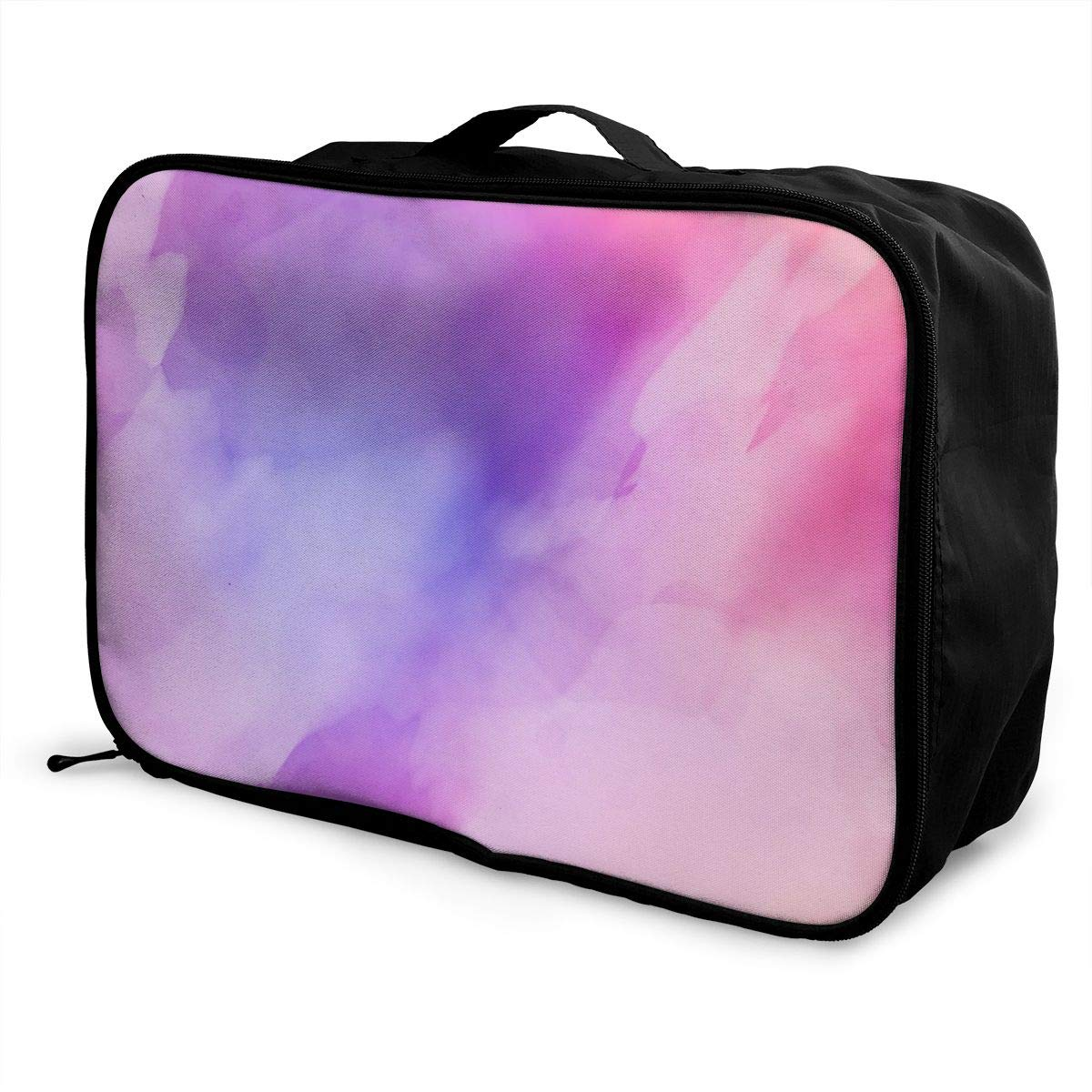 Texture Art Travel Lightweight Waterproof Foldable Storage Carry Luggage Large Capacity Portable Luggage Bag Duffel Bag
