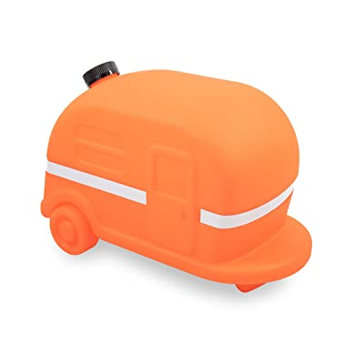 Camco Orange Retro Camper RV Sewer Weight-Safely Secures Your 4-in-1 Adapter in Place at Dump Stations-Features a Fillable Tank and Reflective Tape (43100): Automotive