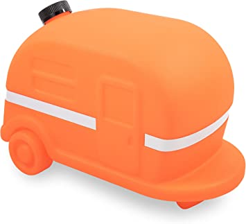Amazon Com Camco Orange Retro Camper Rv Sewer Weight Safely Secures Your 4 In 1 Adapter In Place At Dump Stations Features A Fillable Tank And Reflective Tape 43100 Automotive