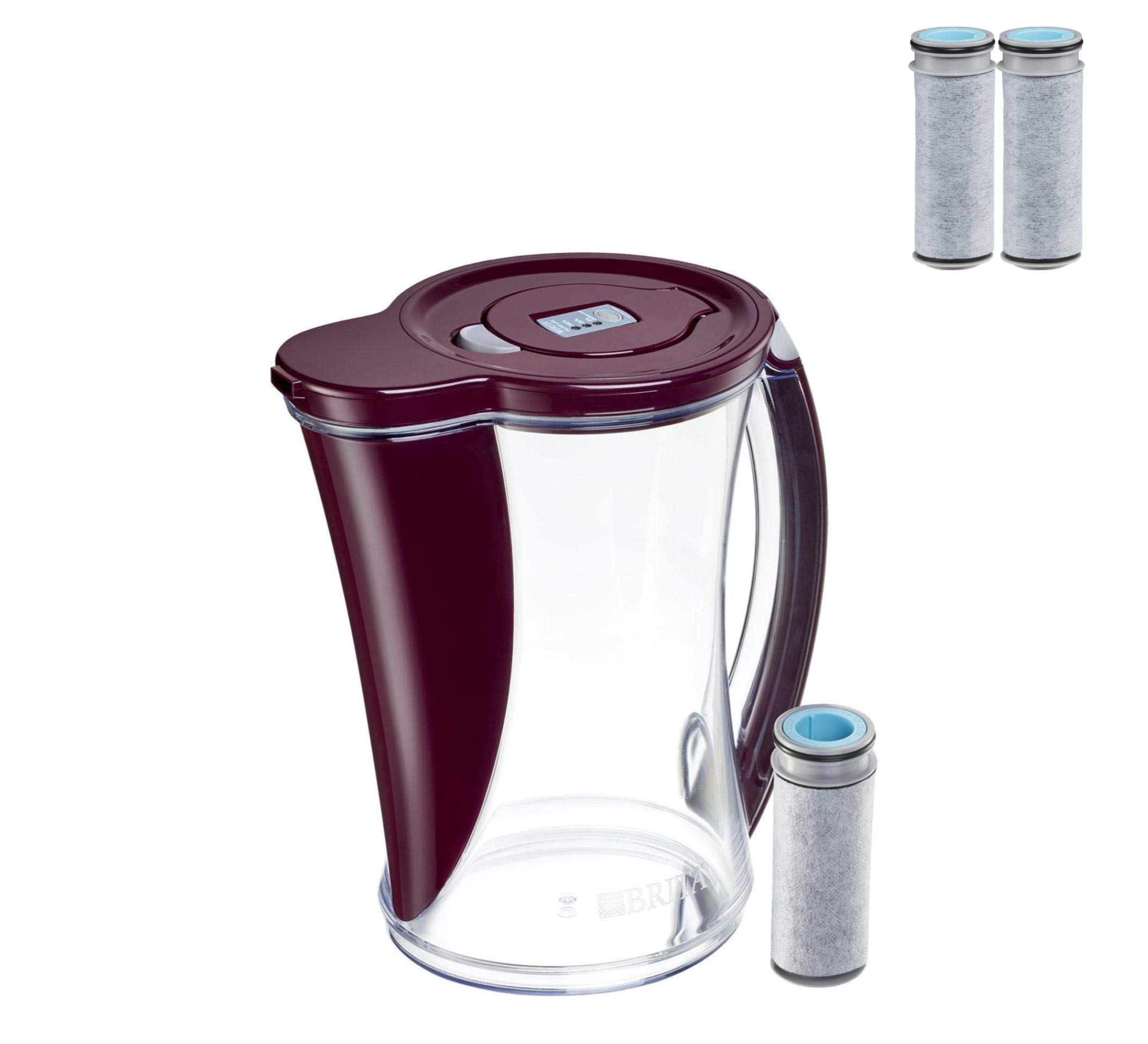 Brita 12 Cup Stream Filter As You Pour Water Pitcher (Pitcher with 3 Filters)