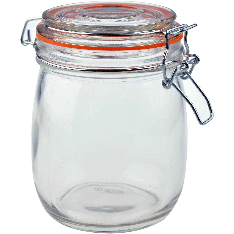 Argon Tableware Preserving/Biscuit Glass Storage Jar - 750ml