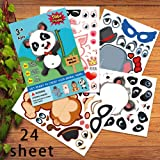 Animal Sticker,Make Your Own Animal Stickers,Make-A-Face Stickers,Fun Craft Project for Children,Let Your Kids DIY & Design T