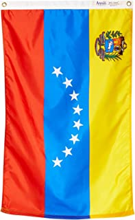 product image for Annin Flagmakers Model 199274 Venezuela Flag Nylon SolarGuard NYL-Glo, 2x3 ft, 100% Made in USA to Official United Nations Design Specifications