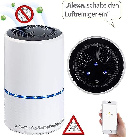 Sichler Haushaltsgeräte - Purificador de aire ionizador: purificador de aire con ionizador, filtro de aire 2 en 1, WLAN y aplicación, hasta 30 m2 (limpiador de aire iónico, enchufe): Amazon.es: Hogar