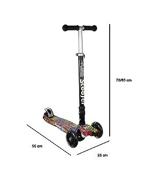 Kenrod Patinete 3 Ruedas para Niños Entre 3 y 10 años con diseño Scooter Ruedas Led Sin Pilas