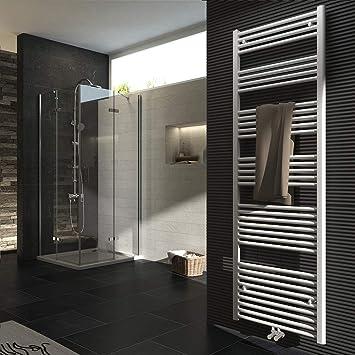 Badheizkörper 1800x600mm 1348 Watt Leistung Weiß Handtuchtrockner ...