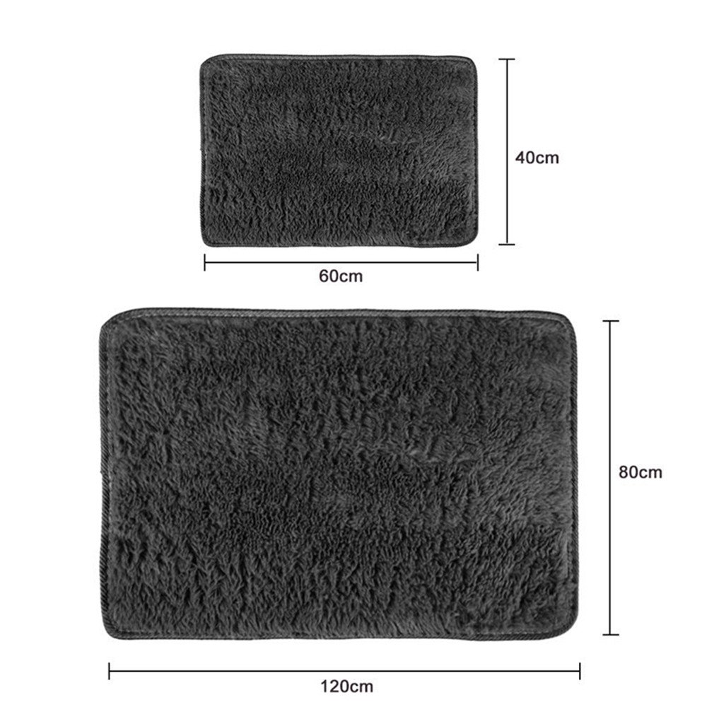 Super Soft Long Plush Silky Mat Carpet Mat Door Rugs Area Rug For Bedroom Living Room Bathroom 4 40x60cm by CHOUHOC (Image #7)